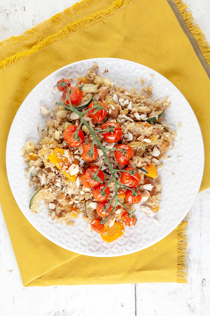 Spiced couscous with roasted tomatoes 2 - Spiced couscous with roasted tomatoes