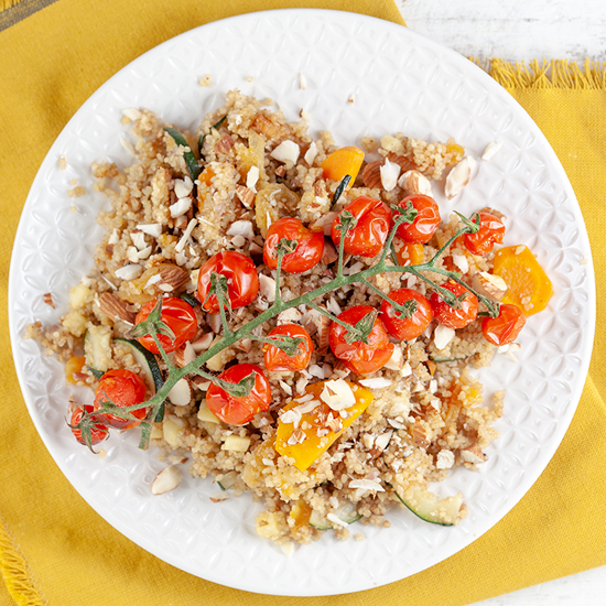Spiced couscous with roasted tomatoes
